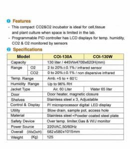 CO2 & O2 incubator