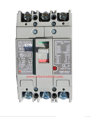 Devico- DB103CB Molded Case Circuit Breaker