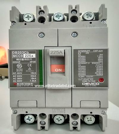Devico- DB203CB Molded Case Circuit Breaker (MCCB)