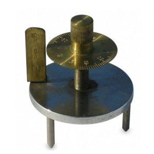 50 mm diameter Spherometer Double Disc All Brass Steel Legs