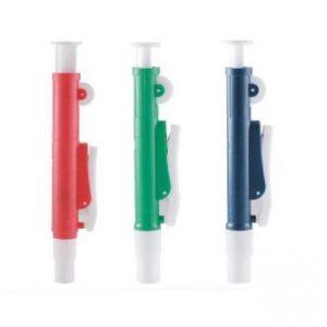 25mL Plastic Pipette Pump, Red Color