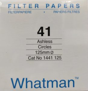Filter Papers, No. 41, England