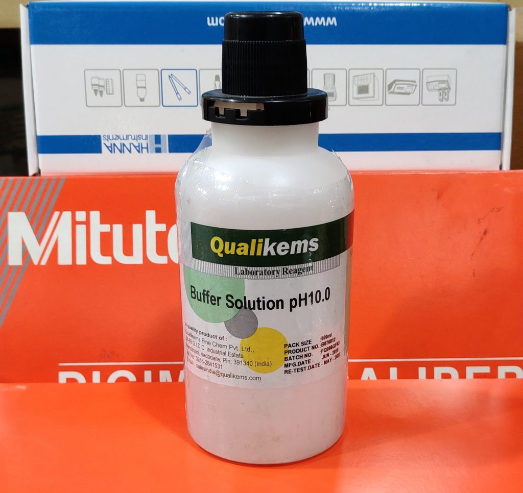 Buffer Solution, pH 10, 500mL, Qualikems