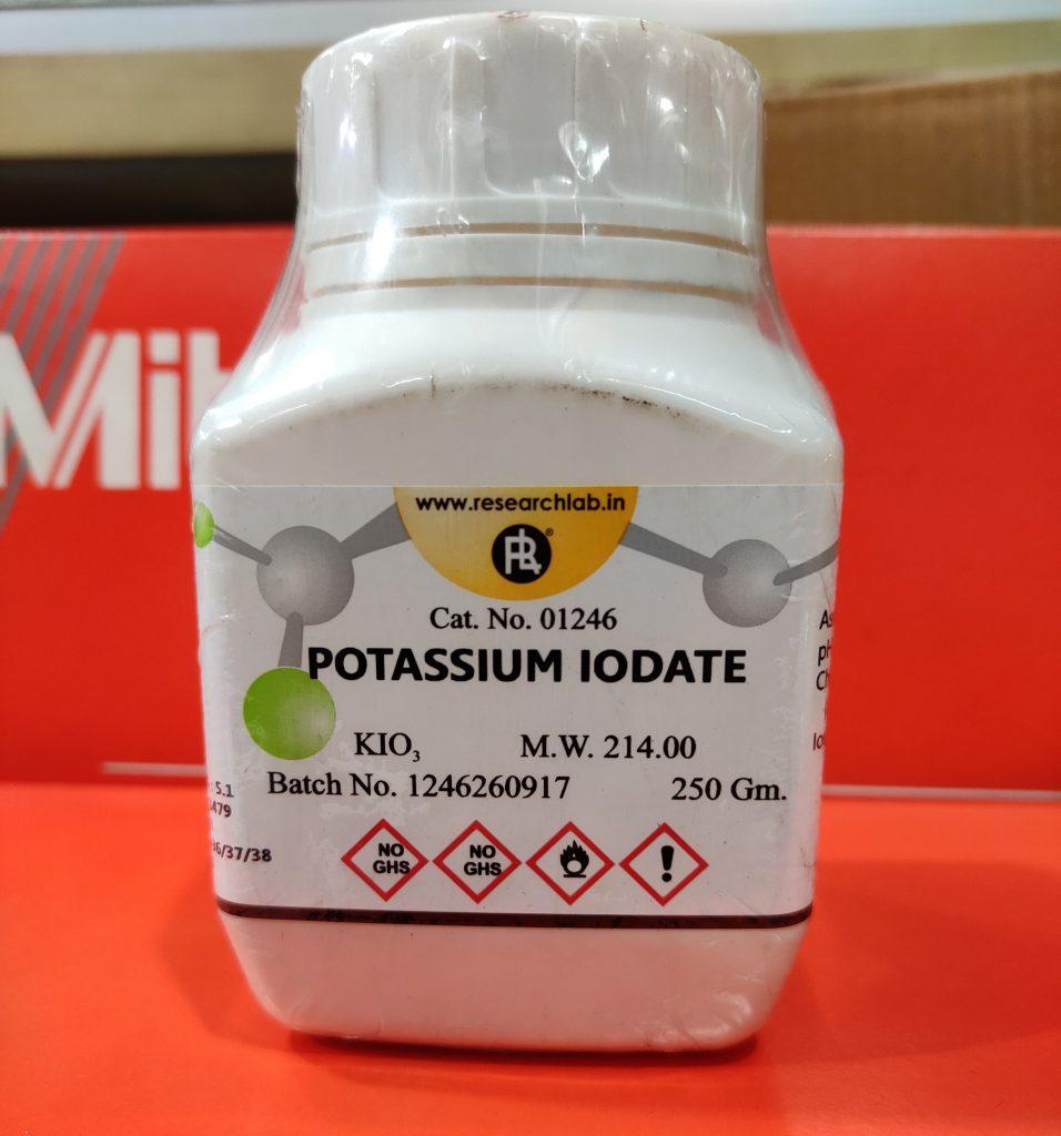 Potassium Iodate (KIO3), 250 gM, India