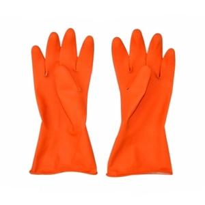 Rubber Hand Gloves, Acid Alkali Proof, Orange color