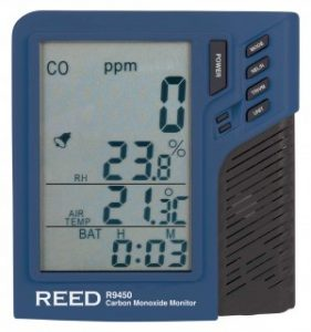 Carbon Monoxide Monitor with Temperature and Humidity, REED R9450