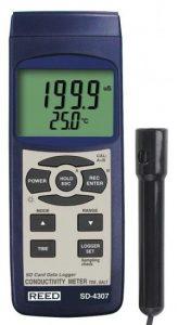 Conductivity/TDS/Salinity Meter -Data Logging, REED SD-4307