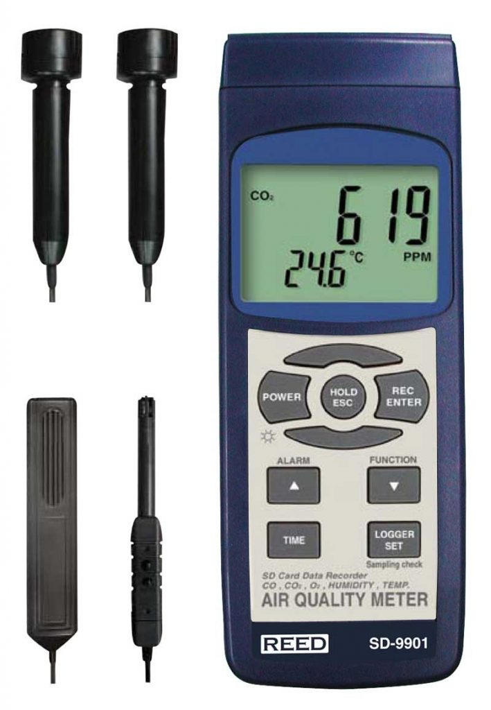 Data Logging Indoor Air Quality Meter, REED SD-9901