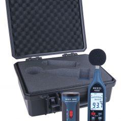 Data Logging Sound Level Meter and Calibrator Kit, REED R8080-KIT