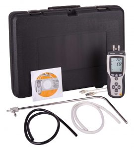 Pitot Tube Anemometer / Differential Manometer with Air Volume, R3001