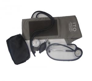 Blood pressure machine with stethoscope