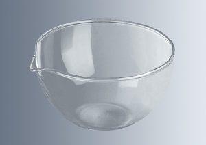 Glass evaporating dishe