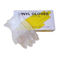 Powder free vinyl hand gloves