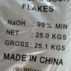 Caustic soda flask (NaOH)