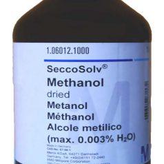 Methanol dried, MeOH, Hydroxymethane, Methyl alcohol, Carbinol